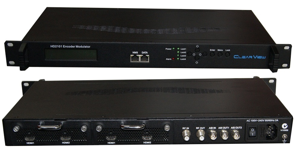 ClearView HD2101 Dual HD Encoder Modulator Mpeg2/4