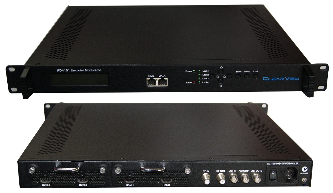 ClearView HD4101 Quad HD Encoder Modulator Mpeg2/4