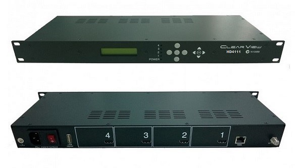 ClearView HD4111 Quad HD MPEG4 DVBT Modulator 4RF Carriers Out